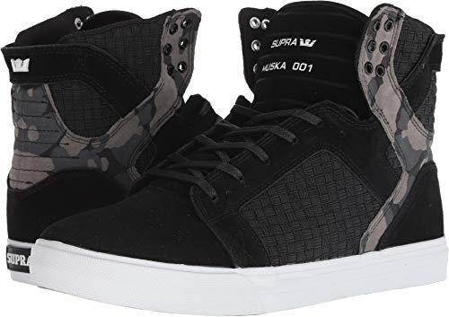 Supra Men's Skytop Black/Camo/White 11.5 D - Skate Shoes Camo Suede