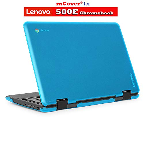 mCover Hard Shell Case for 2018 11.6 Lenovo 500E Series 2-in-1 Chromebook Laptop (NOT Fitting Lenovo N21 / N22 / N23 /100E / 300E / Flex 11 Chromebook) (C500E Aqua)