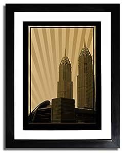 Al Kazim Towers Metro - Sepia No Text F07-nm (a3) - Framed