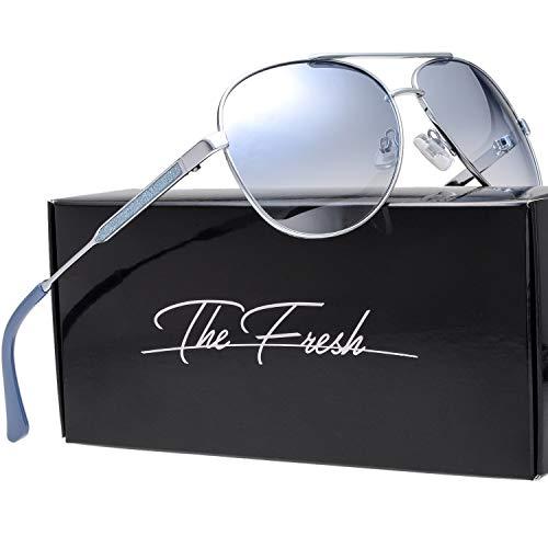 Classic Crystal Elegant Women Beauty Design Sunglasses Gift Box (L161-Silver, Blue ()