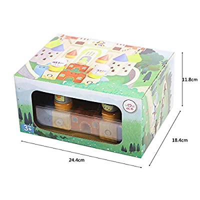 Heavensense Umu Castle Building Blocks Kit Wooden Toys Educational Buckle Clasp Wood Building Wooden Models: Home & Kitchen