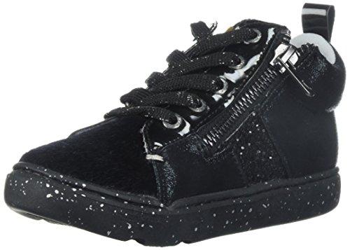 Step & Stride Girl's Zoe Glitter High Top Sneaker, Black Pony, 6 M US ()