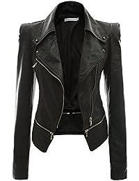 249f8f916ef Amazon.com: 16 - Leather & Faux Leather / Coats, Jackets & Vests ...