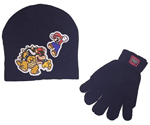 Super Mario Little Boys Beanie Hat and Gloves Winter Set -
