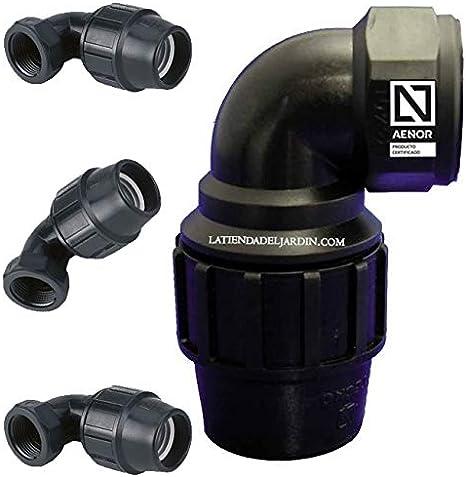 Herraje de compresión de riego 25mm Acoplador Tee MDPE Agua Tubo De Codo Macho Femenino