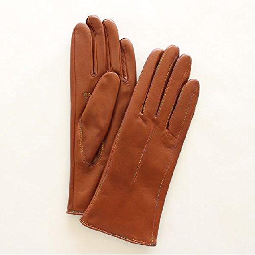 占める報いるメディックレディース(婦人)羊革手袋(グローブ)グラデーションステッチ ブラウン2 「美指-UTSUKUSHI(ウツクシ)」シリーズ