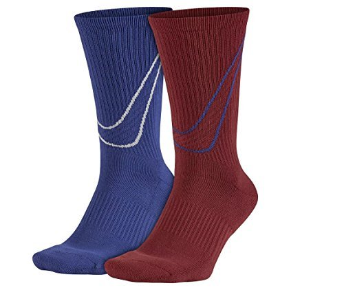 Nike Men`s 2-pack Swoosh HBR Crew Socks