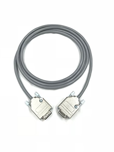 35 foot db9 male to female 22 awg serial gray pvc cable