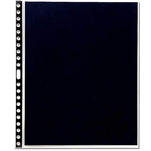 Cristal Laser Sheet Protectors - Prat Cristal 904 Sheet Protectors, Black Reinforced Perforation and Luxury Black Paper Inserts, 11 X 8.5 inches, Pack of 10 (904-11X8.5)