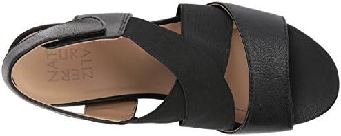 Naturalizer Women's Cleo Wedge Sandal, Black, 12 M US