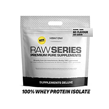 Proteína Aislada de Suero de HSN Raw | 100% Whey Protein Isolate | Proteína Sin Sabor en Polvo para Ganar Masa Muscular, Recuperador Muscular, Rica en ...