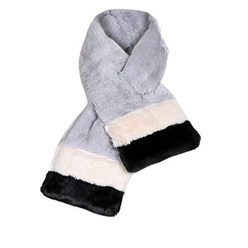 Womens Faux Fur Scarves Winter Warm Thicken Scarf ()