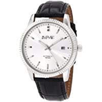 August Steiner Men's ASA825SS Diamond Automatic Strap Dress Watch