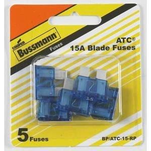 Bussmann Division ATC-15 Auto Fuse 5-Piece - 1997 Lincoln Town Car Auto