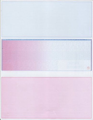 (Blank Middle of Page Laser Checks - Blank Checks - 500 count - Red/blue rainbow)