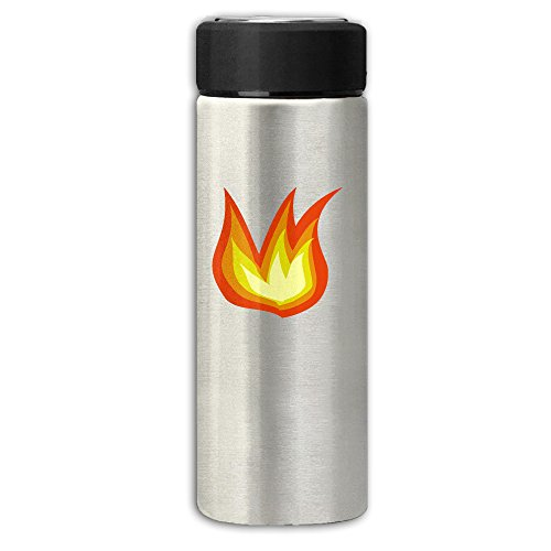 Fire Cartoon Vacuum Cup Stainless Steel Frosted Travel Mug With Tea Leaf Filter,Business