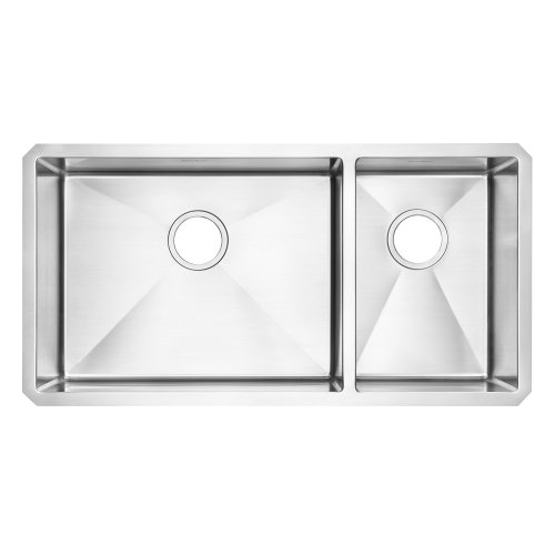 American Standard 12CR.361800.290 Prevoir Luxury Undermount 35-Inch Stainless Steel Double Combination Bowl Kitchen Sink, (American Standard Double Bowl Sink)