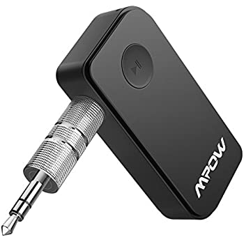 Mpow Bluetooth Receiver, Portable Bluetooth 4.1 Car Adapter & Bluetooth Car Aux Adapter for Music Streaming Sound System, Hands-free Audio Adapter & Wireless Car Kits for Home/Car Audio Stereo System