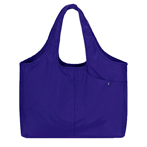 Capacity Bag - Volcanic Rock Waterproof Shoulder Bag Lightweight Totes (8045_Azure)