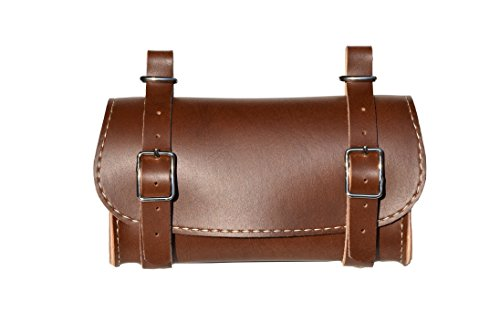 Rear Saddle Bicycle Bag Classic. Bike pannier. Cycling storage. Vintage Style. Simil Leather. Color: Brown. 100% MADE IN ITALY by ITALY 74