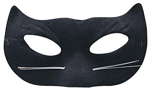 Rubies Child's Black Velour Cat Mask (Halloween Cat Whiskers)