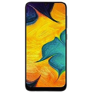Samsung Galaxy A30 (64GB, 4GB RAM) 6.4″ FHD+ Infinity-U Display, 16MP+5MP Dual Camera, Dual SIM GSM Factory Unlocked A305G/DS (International Version, No Warranty w/ 64GB MicroSD Bundle) (Black)
