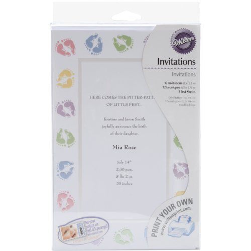 Feet Invitations (Wilton Baby Feet Invitations)