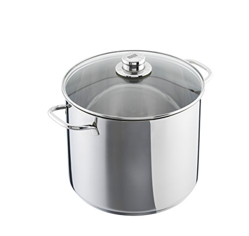 Kuhn Rikon 37399Today XXL Cooking Pot with Glass Lid 28cm, Stainless Steel, Silver, 14.0L/28cm