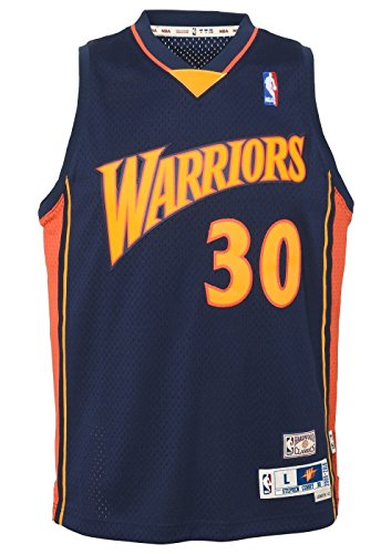 (Outerstuff Stephen Curry Golden State Warriors NBA Youth Throwback 2009-10 Swingman Jersey)
