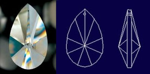 Asfour Tear Drop Shape 30% Lead Crystal 101 mm - 4'' inch #873-101 Set of 10pc