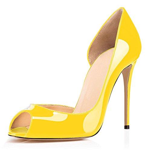 High Toe Jaune Stiletto Femmes Peep Sexy Pumps Rouge Sandales uBeauty Chaussures Aiguille Escarpins Talon Soles Heels PwxfnvWTqZ
