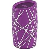 iHome iBT77 Portable Bluetooth Speaker with Speakerphone and Splashproof Fabric (Purple w/White)
