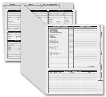 EGP Letter Size Real Estate Listing Folder Right Panel