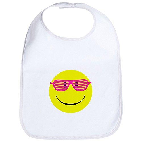 Royal Lion Baby Bib Neon Yellow Smiley Face Sunglasses - Cloud - White Cloud Glasses