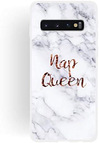 あなたの携帯電話を保護する ギャラクシーS10のための女王のつや消しマット半透明TPU大理石電話ケース