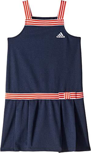 adidas Kids Girl's Tennis Dress (Little Kids) Navy 6
