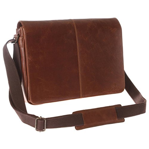 Conkca - Bolso al hombro para hombre marrón canela