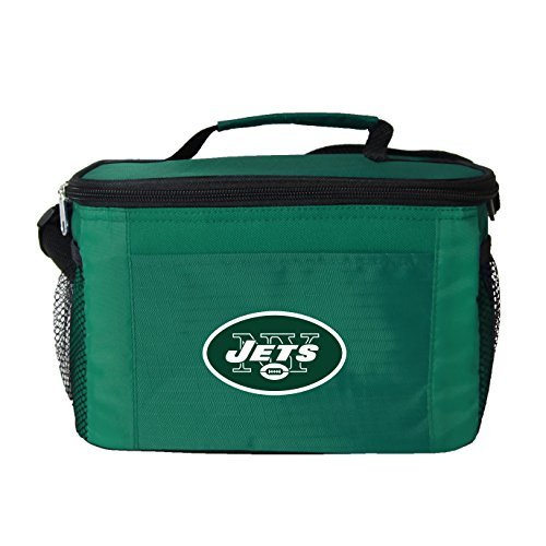 New NFL Football 2014 Team Color Logo 6 Pack Lunch Bag Cooler - Pick Team (New York Jets)