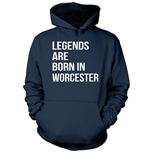 Legends Are Born In Worcester County. Funny Gift - Hoodie Navy Adult 5XL (Halloween In Worcester)