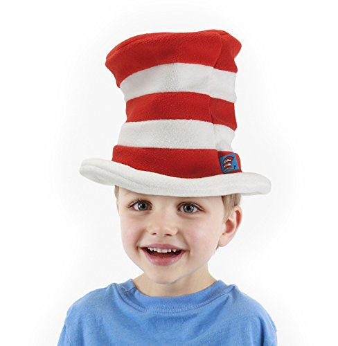 [elope Dr. Seuss Toddler Cat in the Hat Fleece Hat] (Doctor Costumes For Toddlers)