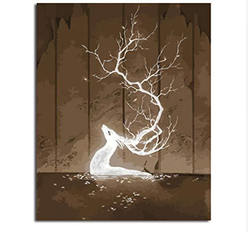 CZYYOU Bilder Malen Und Kalligraphie Von Loely Tiere DIY Malerei by Zahlen Färbung by Zahlen Wandkunst 40x50cm -Rahmenlos B07P5RMR1J | Online Outlet Store