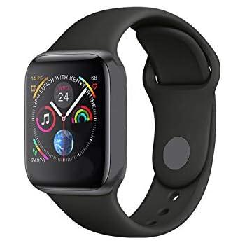 Smart Watch Men Heart Rate Smart Watch for Apple iOS,Iwo 8 Black