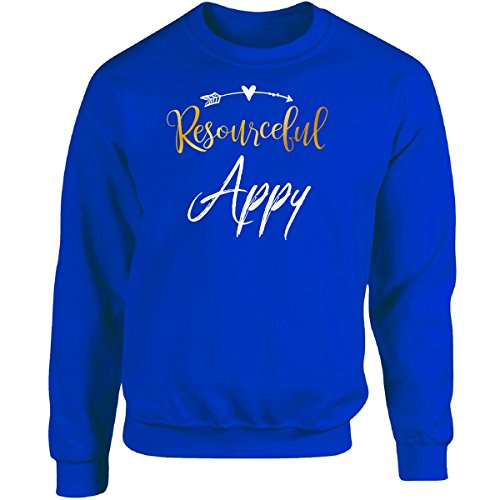 Appy Tee - My Family Tee Resourceful Appy Name Mothers Day Present Grandma - Adult Sweatshirt S Royal