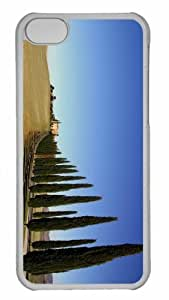 Customized iphone 5C PC Transparent Case - Tuscany Landscape 2 Personalized Cover