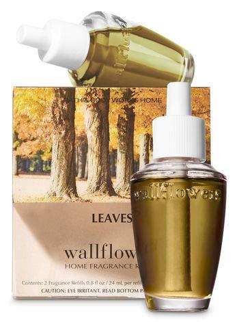 Bath & Body Works Leaves Wallflowers Home Fragrance Refills, 2-Pack (1.6 fl oz total)