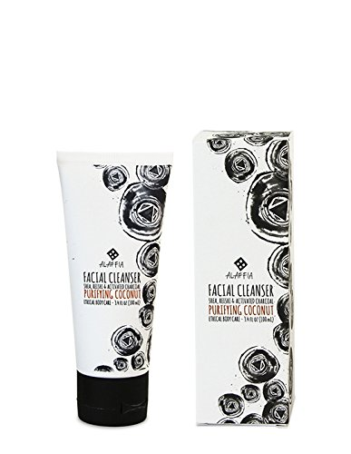 Alaffia - Coconut Reishi Facial Cleanser, Detoxifying Support to Gently Cleanse and Remove Impurities for All Skin Types with Shea Butter, Activated Charcoal, and Coconut Oil, Fair Trade, 3.4 Ounces 4 100% FAIR TRADE: Feel good about how you are getting your products with 100% Certified Fair Trade Ingredients. COCONUT, REISHI MUSHROOM AND SHEA: Fair trade, sustainable & wildcrafted ingredients from Alaffia cooperatives. DETOXIFY AND GENTLY CLEANSE: Contains detoxifying charcoal to remove impurities and makeup.