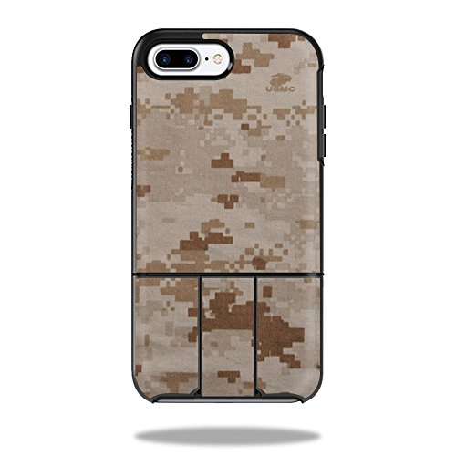 MightySkins Protective Vinyl Skin Decal Compatible with OtterBox Universe iPhone 7 Plus / 7S Plus Case wrap Cover Sticker Skins Desert Camo ()