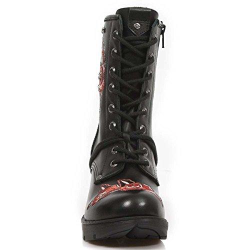 New Rock M Tr048 S3, Damen Stiefel Red Black
