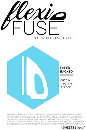 5 Sheets 8 x 10.5 FlexiFuse Lightweight Fusible Web