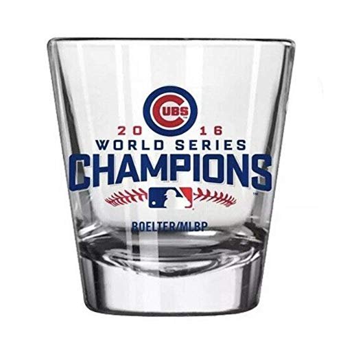 Cubs World Series Champion Satin Etch 2-oz Shot Glass